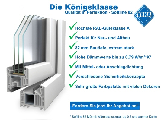 Pol fen fenster t ren zubeh r in bonn veka softline 82 for Fenster 5 kammer profil